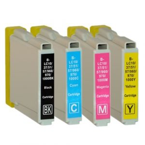 Inktcartridge / Alternatief 12 patronen BCMY Brother LC1000 / 970 | Brother DCP 150C/. 330 C/ 350C/ 357C/ 540 CN/ 560CN/ 750 CW/ 770CW/ 130C/ FAX 13