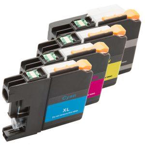 Inktcartridge / Alternatief 4 Brother LC-121 LC-123 (1xBK,C,M,Y) | Brother DCP-J132W/  DCP-J152W/  DCP-J172W/  DCP-J552DW/  DCP-J752DW/  MFC-J470DW/