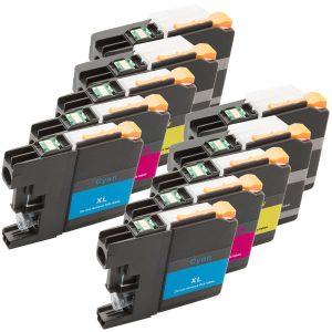 Inktcartridge / Alternatief 10 Brother LC-121 LC-123 (4xBK, 2xC,M,Y) | Brother DCP-J132W/  DCP-J152W/  DCP-J172W/  DCP-J552DW/  DCP-J752DW/  MFC-J47